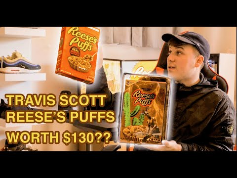TRAVIS SCOTT REESE'S PUFFS REVIEW! WORTH $130?