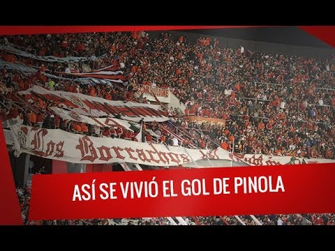 """River vs. Guaraní: Copa Libertadores  - Así se vivió el gol de Pinola en el Monumental"" Barra: Los Borrachos del Tablón • Club: River Plate"