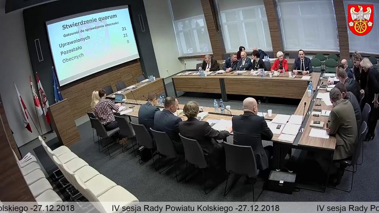 Zdjęcie do IV Sesja Rady Powiatu Kolskiego