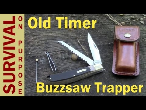 Old Timer Buzzsaw Trapper Folding Knife Review