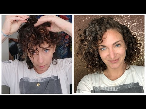 Sleeping Curly - Medusa Clipping Sleep Routine for Short Curly Hair