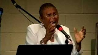 "Barbara Haynes sings ""My God Is Real"""