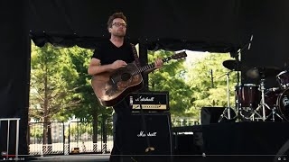 Brad performs Personal Jesus with Hannah Kirby at Wildflower Festival