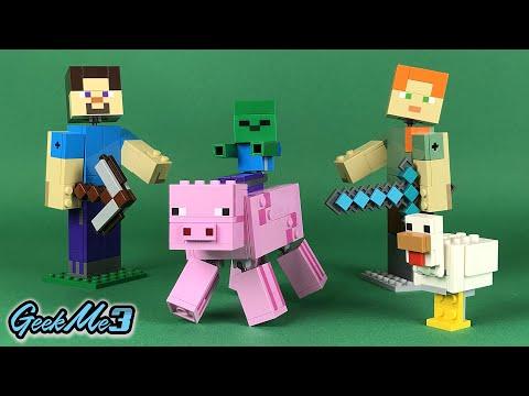Vidéo LEGO Minecraft 21157 : Bigfigurine cochon et bébé zombie