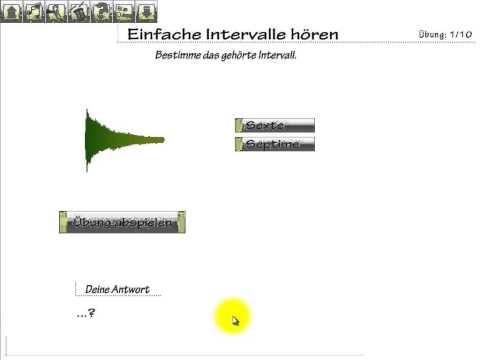 Einfache Intervalle hören
