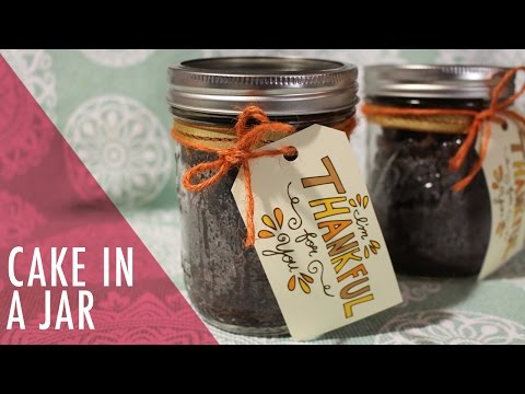 Video Easy Chocolate Cake in a Jar Tutorial. Tasty Delights.
