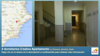 preview picture of video '3 dormitorios 2 baños Apartamento se Vende en La Romana, Alicante, Spain'