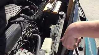 Replacing the AC condenser in a car