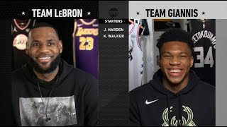 Team LeBron & Team Giannis Full Draft | 2019 NBA All-Star