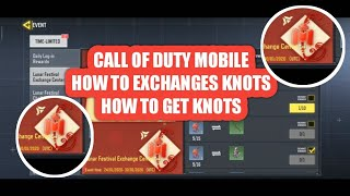 How to exchange holiday knots | call of duty mobile