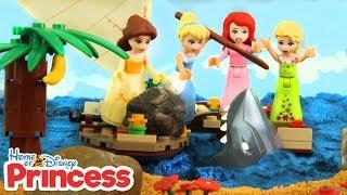 ♥ LEGO Disney Princess OCEAN ADVENTURES Stop Motion Animation Cartoons For Kids