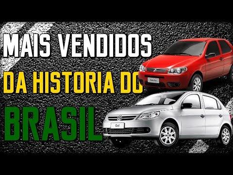 TOP 10 CARROS MAIS VENDIDOS DA HISTORIA DO BRASIL | KMBR