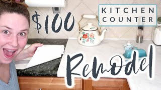 $100 Kitchen Counter Remodel!