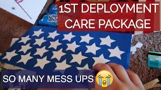 1ST DEPLOYMENT CARE PACKAGE!! // VLOG