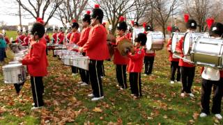 PHB Drumline Warm Up - Toronto Santa Claus 2011