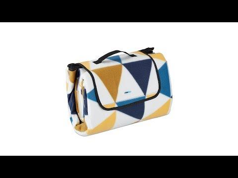 Picknickdecke 200x200cm blau gelb