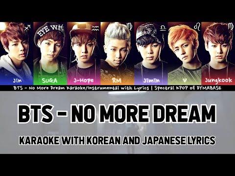 BTS - No More Dream Karaoke/Instrumental with Korean and Japanese Lyrics   Spectral KPOP