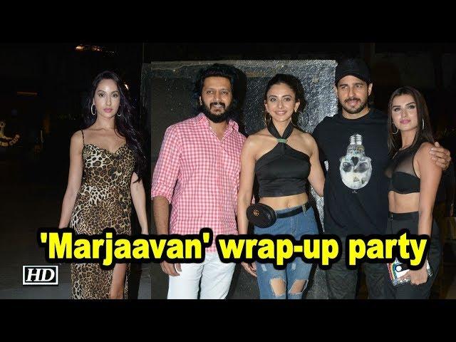 Sidharth, Riteish, Rakulpreet attend 'Marjaavan' wrap-up party
