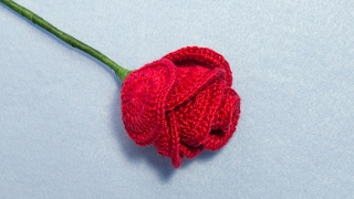 How To Crochet A Long Stem Rose