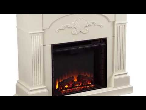 Southern Enterprises Sicilian Harvest Electric Fireplace - Ivory