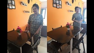 Dining Table For Less Space | Small Room | Compact Dining Table | 4 Seated Dining Table
