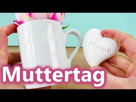 MUTTERTAG Geschenkideen | Geschenke für MAMA selber machen | Tasse & Herz gravieren mit Dremel 3000