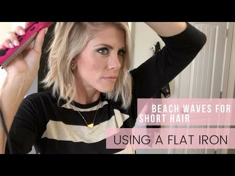 Easy - Fast Beach Waves for short Hair | Using a Flat Iron