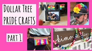 DIY PRIDE CRAFTS Pt. 1 | Easy Dollar Tree Outfit And Decor Ideas