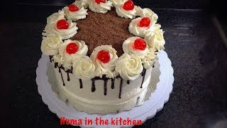 How To Make Black Forest Cake Recipe Homemade by (HUMA IN THE KITCHEN)