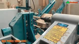 MÁY TIỆN GỖ CNC 2 Trục Làm Việc đồng thời nạp phôi tự động Woodmaster