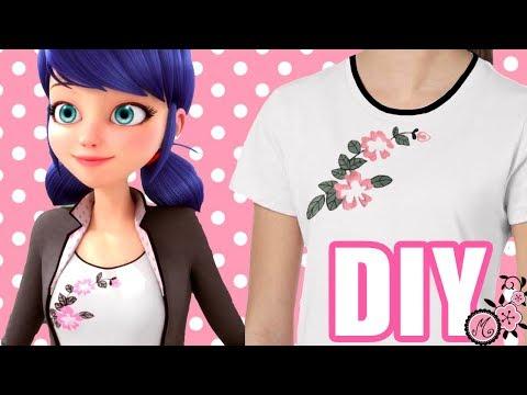 Disfraz casero de Miraculous Prodigiosa Ladybug Marinette. 2 Técnicas camiseta