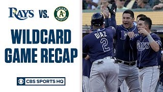 RAYS WIN THE WILDCARD | Advance to face Astros in ALDS | CBS Sports HQ