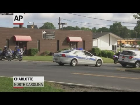 Two days after police say Riley Howell acted heroically when giving his life to stop a gunman in his UNCC classroom, Charlotte-Mecklenburg Police officers escorted his body from a Charlotte mortuary to his hometown of Waynesville, North Carolina. (May 2)