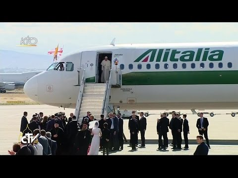 Arrivée du Pape François en Géorgie