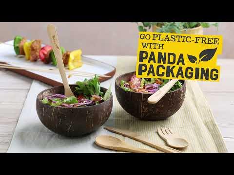 Bamboo Pot Brush Replacement, Panda Packaging