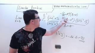Limita funkce - Typ nula lomeno nulou - Rozšíření nebo L'Hopital 11.11.2014