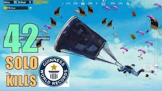 (April fools joke) 42 KILLS NEW WORLD RECORD!!! | SOLO SQUAD | PUBG Mobile