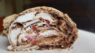 МРАМОРНЫЙ МЕРЕНГОВЫЙ рулет 🖤 Meringue cake roll