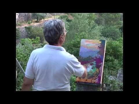 Daniel Codorniu pintando en FORNALUTX (MALLORCA) 2007 Parte 2 y final
