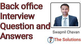 back office interview questions and answers for freshers in hindi