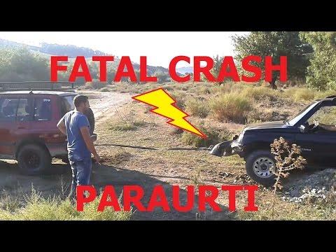 Suzuki vitara crash epic fail paraurti gancio traino- 4x4 off road