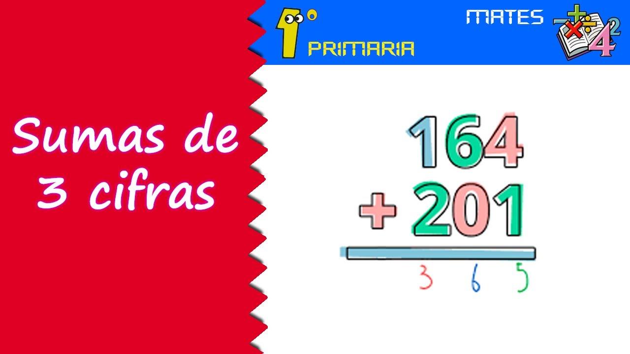 Matemáticas. 1º Primaria. Tema 5: Sumas de 3 cifras