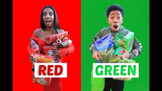 Eating Only ONE Color Of Food For 24 Hours!! (CHRISTMAS EDITION) | VLOGMAS DAY 23