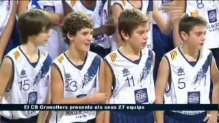 preview picture of video 'El Club Bàsquet Granollers presenta els seus 27 equips'