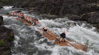 【4K】和歌山・北山村で観光筏下り始まる