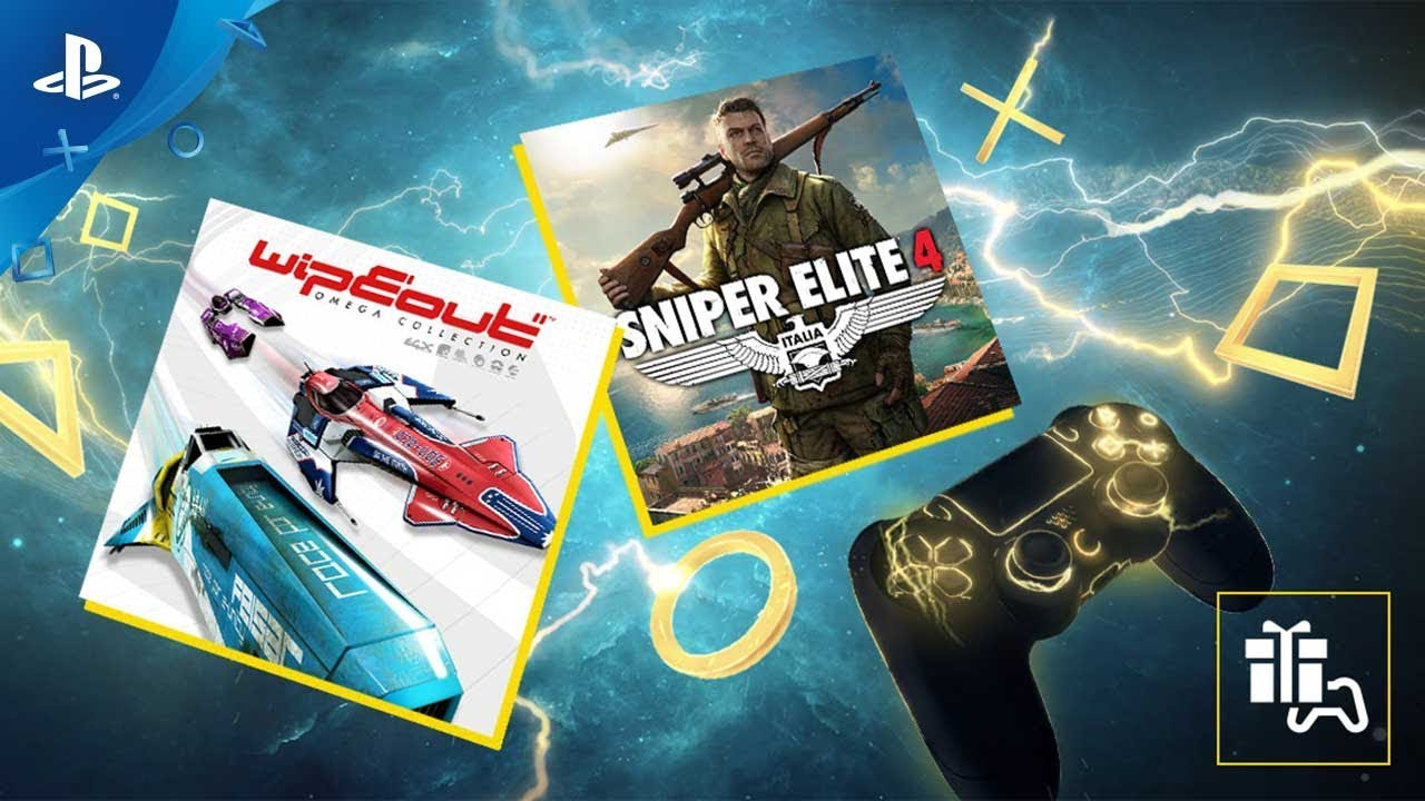 WipEout Omega Collection und Sniper Elite 4 sind die PlayStation Plus-Spiele für August