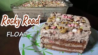 Rocky Road Float |  How to make Rocky Road Graham Float | Rocky Road Ice box cake Recipe