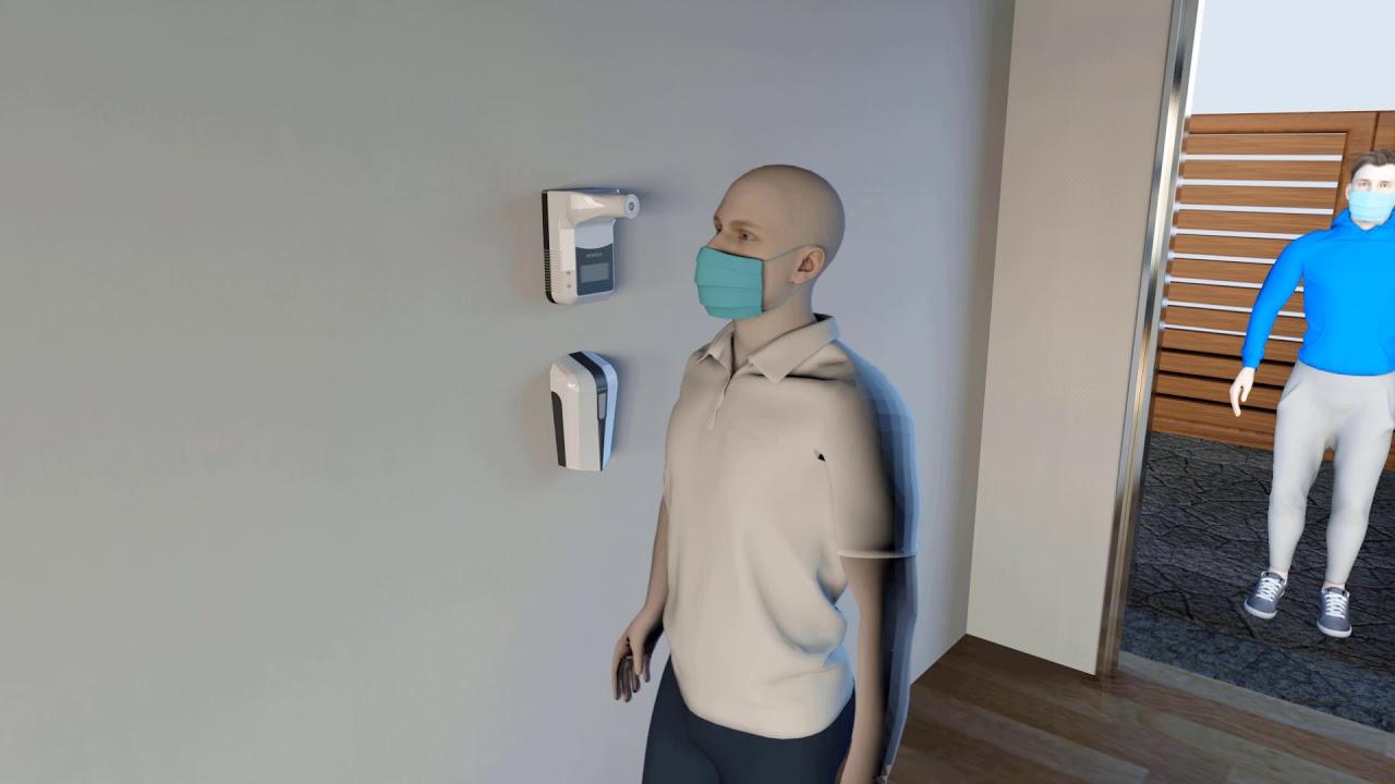 Sanitizer A Digital Body Temperature Sensor