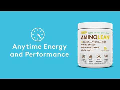 RSP Nutrition, AminoLean, Essential Vegan Aminos, Cucumber Lemon, 7.94 oz (225 g)