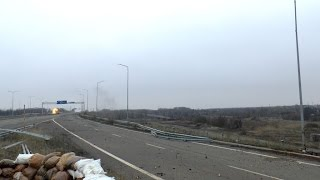 Обстрел Ясиноватской развязки / Shelling Yasinovatskiy interchange